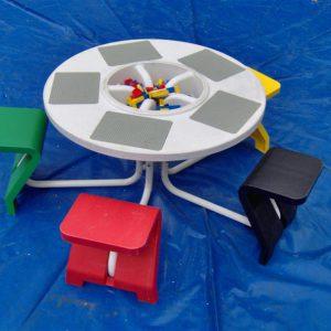 Legotafel-5-stoeltjes-Medium
