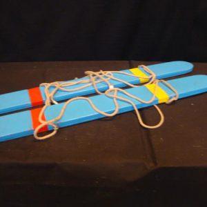 Skilopen 2 personen met touw