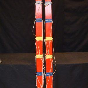 Skilopen 4 personen met touw