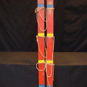 Skilopen 6 personen met touwen