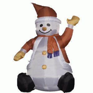 Sneeuwpop zittend
