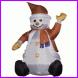 feestcentrale sneeuwpop zittend