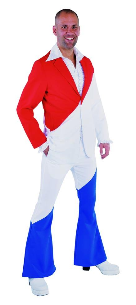 Kostuum Rood:wit:blauw