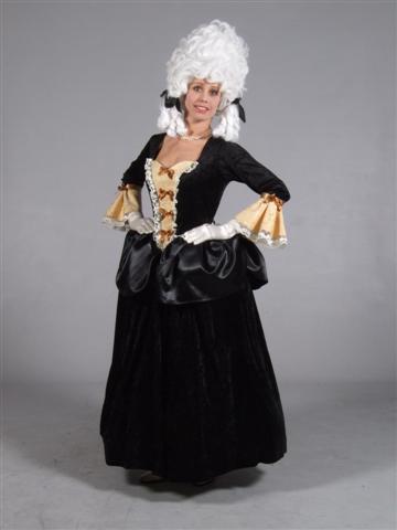 Markiezin jurk zwart