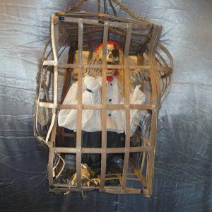 Piraat in kooi hangdecoratie