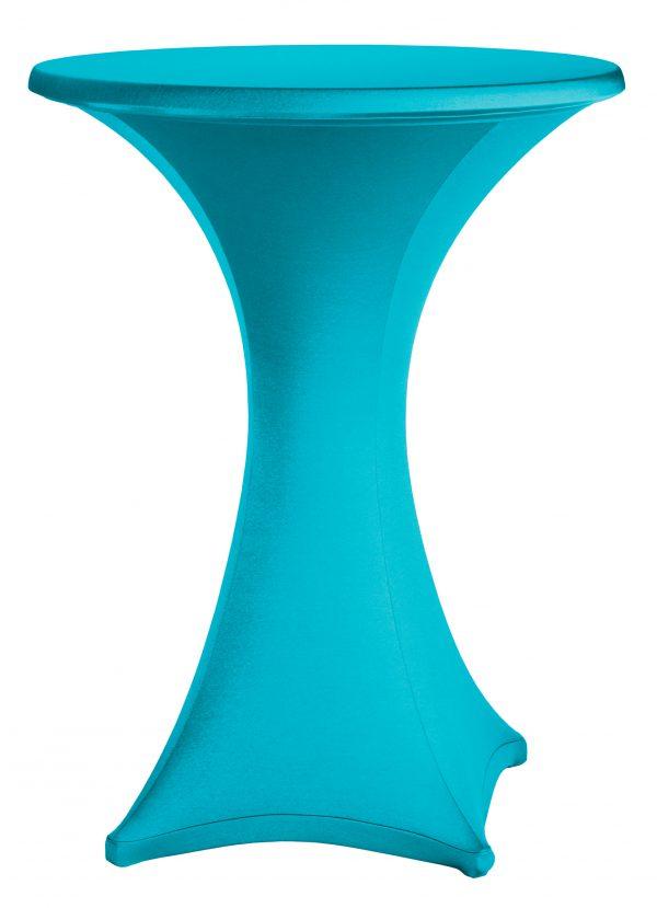 Statafel rok Stretch Turquoise 80 cm