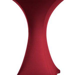 Statafel rok Stretch Bordeaux 80 cm