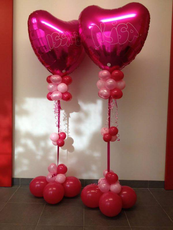 Geboorte Ballondecoratie met Helium Hart
