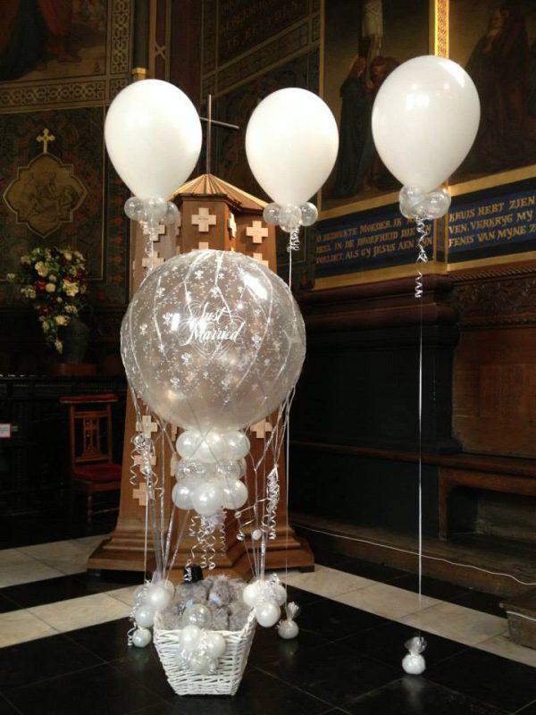 Huwelijk Ballondecoratie in mand