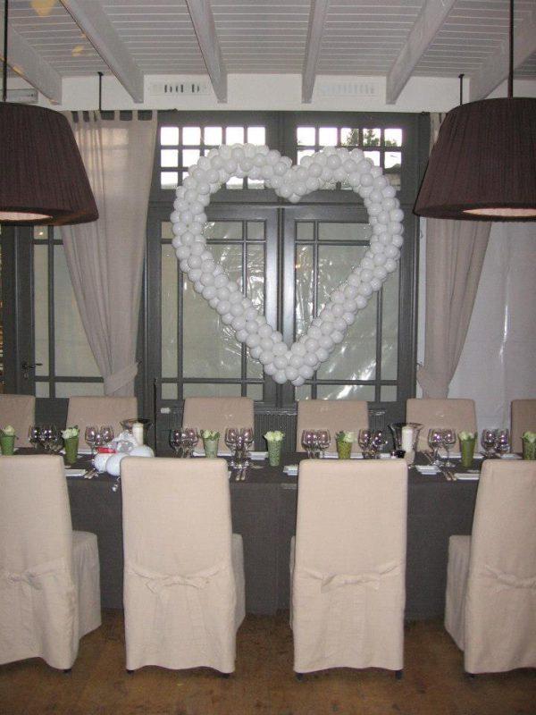 Huwelijk Ballondecoratie Hart