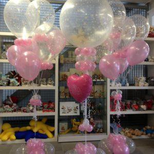 Geboorte Ballondecoratie met Helium Topballon