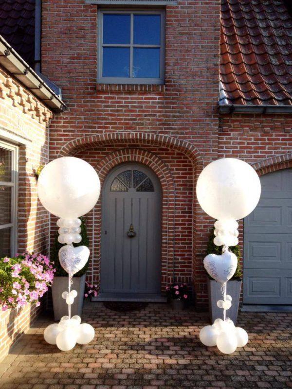 Huwelijk Ballondecoratie op stang met top
