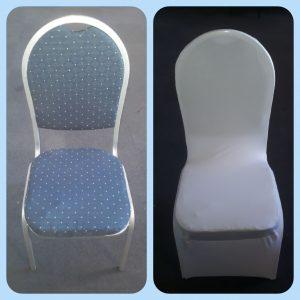 Luxe stoel / Congresstoel / Stackchair + Stoelhoes wit