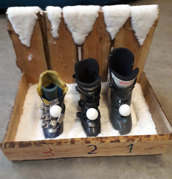 Skischoen Sneeuwbalgooien