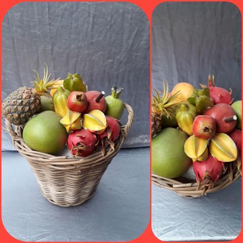 Mand Exotisch Fruit decoratie