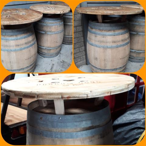 Wijnvat Statafel Barrel hout