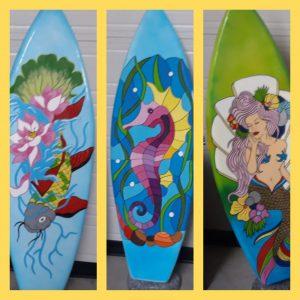 Surfplank 165 cm set van 3 stuks